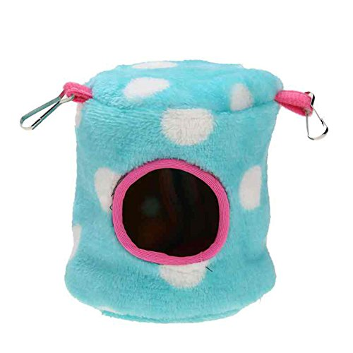 KAYI Hamster House Polka Dot Flannel Thickened Breathable Sleeper Bed for Small Animal