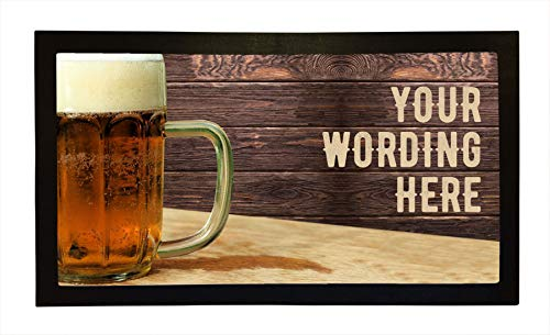 Personalised Bar Runners Wooden Shack Home or Pub Bar Mats Mens Gift Idea]()