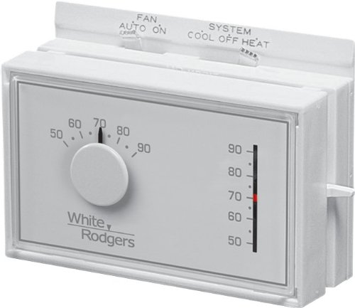 Thermostat Analog - White-Rodgers Emerson 1F56N-444 Mechanical Heating and Cooling Thermostat