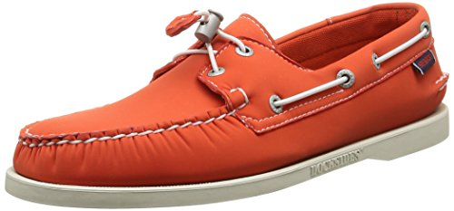 Sebago Docksides, Náuticos Para Hombre Naranja (Orange Neoprene)
