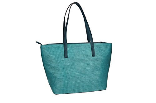 Tasche damen schulter ANTONIO BASILE shopper blau mit offnung zip VN1842