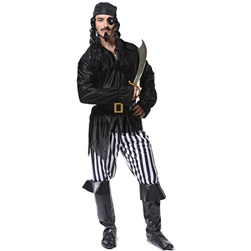 flatwhite Adult Mens Cool Pirate CostumesBlackwhiteOne Size  sc 1 st  Costume Overload & Adult Pirate Costumes u0026 Halloween Costume Ideas for Men
