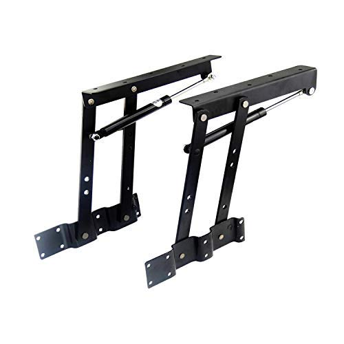 sauton-1pair-folding-lift-up-top-table-mechanism-hardware-fitting-hinge-spring-standing-desk-frame