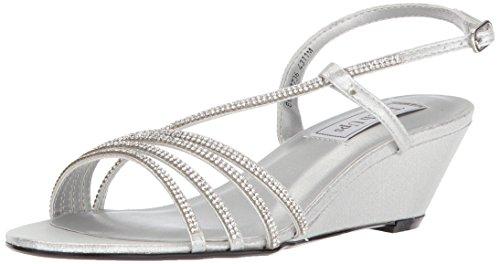 (Touch Ups Women's Celeste Wedge Sandal, Silver, 9.5 M US)