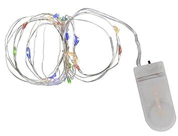 Amazon.de: Out of the Blue Draht-Lichterkette mit 20 bunten LED ...
