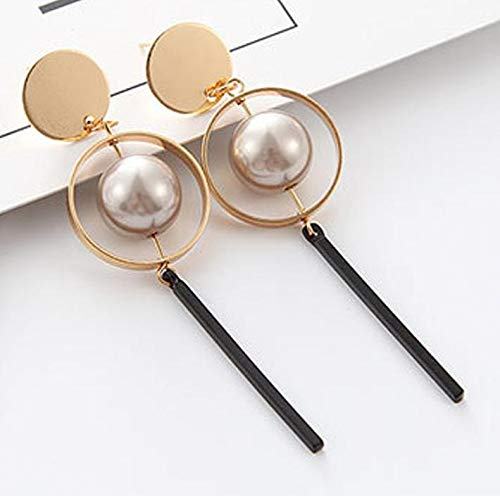 Autumn Water New Earings Fashion Jewelry Vintage Hollow Circular Sequined Pearls Long Drop Earrings Boucle D'oreille Femme Pendante
