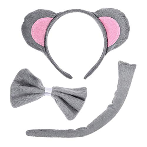 LuFOX Cute Mouse Ears, Tail, and Bow Tie