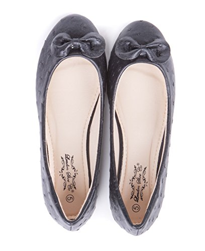 Shoes amp; Black Ballet Ballerina On Womens Slip Pumps HITqFZ