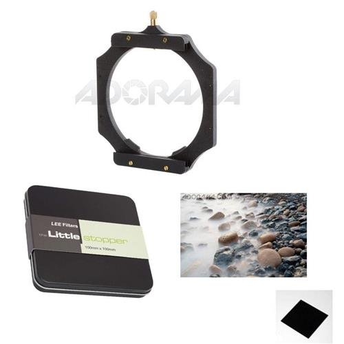 Lee Filters Foundation Kit / Filter Holder - Bundle with Lee Filters 100x100mm Big Stopper 3.0 ND Filter, Lee Filters 100x100mm Little Stopper Neutral Density Filter by Lee Filters