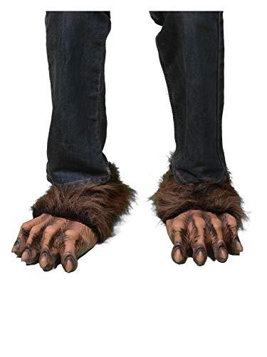 Zagone Werewolf Feet, Brown Faux Fur, Latex Toes/Feet -