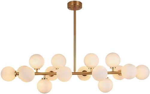 16 Lights Sputnik Chandeliers Brushed Brass Finish Fixture Nordic Magic Beans Molecular Ceiling Lamp Living Room Dining Room Study Bedroom Pendant Lighting brass-bigger
