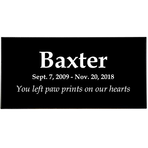 (Memorial Gallery Personalized Pet Granite Marker with Custom Engraving (Text Only))