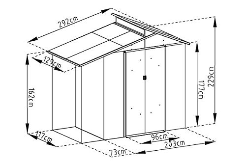 Gardiun KIS12988 Caseta Metálica Nottingham con Porche Lateral, M: Amazon.es: Deportes y aire libre