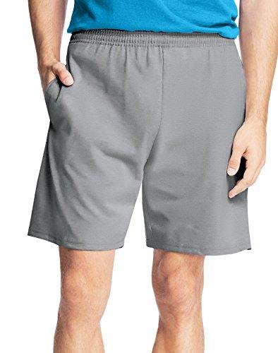 Hanes Men9;s Jersey Pocket Short Light Steel 4XL