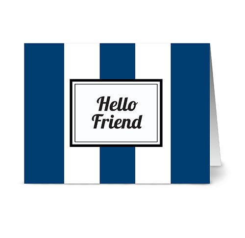 modern-wide-stripe-hello-friend-navy-24-cards-blank-cards-w-grey-envelopes-included