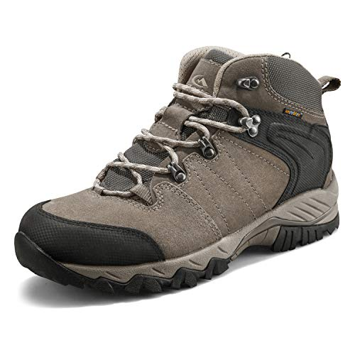 Clorts Men's Hiking Boot Waterproof Lightweight Backpacking Trekking Trail Shoes Brown HKM-822G US9.5