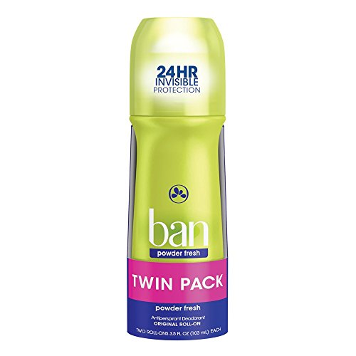 Ban Roll-On Antiperspirant Deodorant, Powder Fresh, 3.5oz (Pack of - Ban E