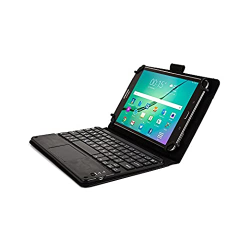 Dell Venue 8, Venue 8 Pro keyboard case, COOPER TOUCHPAD EXECUTIVE 2-in-1 Wireless Bluetooth Keyboard Mouse Leather Travel Cases Cover Holder Folio Portfolio + Stand New 2014 Edition (Black)