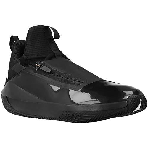 Nike Jordan Mens Jumpman Hustle Synthetic Mesh Black White Trainers 10.5 US