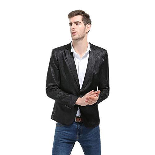 Palais Blanc M De Toogoo Homme Noir Pour Ancien La Decontracte Bouton Mode Vetement Veste Costume Floral veston Complet Collant Un A D'affaires Fete qR15xXw1f