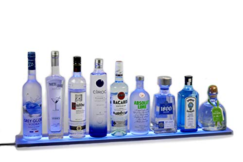 - LED Liquor Shelf and Bottle Display (5 ft length) - Programmable Shelving Includes Wireless Remote, Wall Mounts, and Power Supply