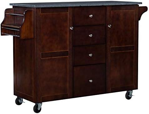 Linon Tori Wood Kitchen Cart