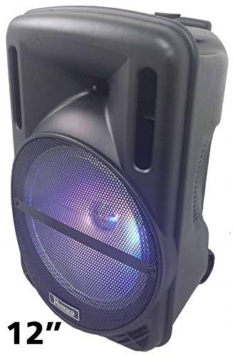 Altavoz PORTATIL Bluetooth Trolley SUBWOOFER 12″ con 80W Reales-(700W PMPO),Karaoke,con MICRÓFONO,Radio,USB RX1030