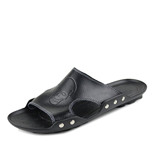 169cf574797f 30%OFF QINGYUAN Men s Summer Leisure SLippers Comfortable Leather Sandals