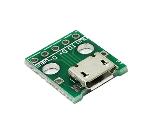 SUKRAGRAHA Female Micro USB to DIP 5-Pin Pinboard 2.54mm Micro USB Type Interface Power Adapter Board 5V Breakout Module 5pc