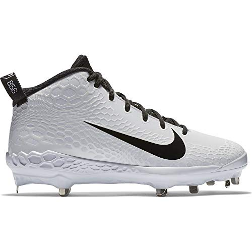 00a8a26fb50 Nike Men s Force Zoom Trout 5 Pro Metal Baseball Cleat White Black Size 10  M US