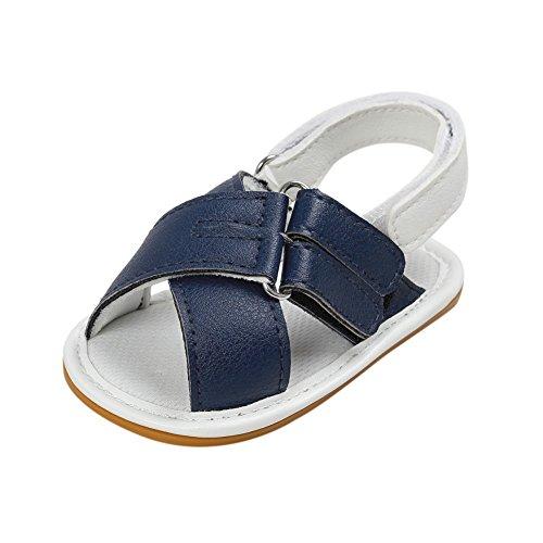 Sandalias De Bebe,BOBORA Prewalker Zapatos Primeros Pasos Para Bebe Zapatos Casuales De Bebe Suela De Goma Sandalias azul