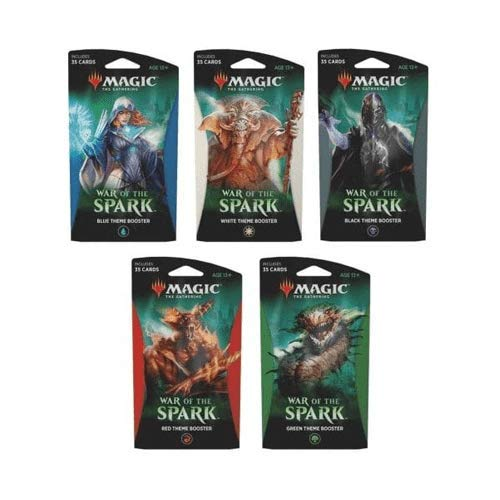 Magic The Gathering C63040000 War of The Spark-Theme Booster Packet Style Sent at Random