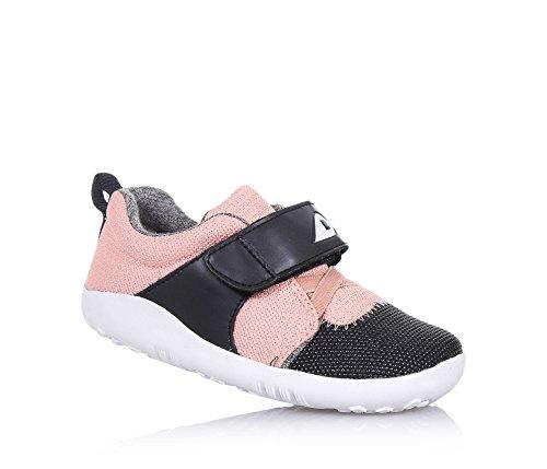 BOBUX - Chaussure I-Walk Blaze blanche et noire en tissu et cuir transpirant, extrêmement flexible, Fille, Filles