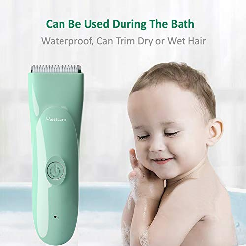 Meetcare Baby Hair Clippers - Ultra Quiet Electric Hair Trimmer, Cordless Rechargeable Waterproof Haircut Kit for Kids Infants & Adult.