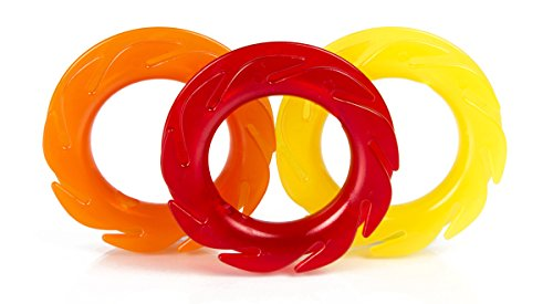 The LOOP Earbuds Holder Headphones cord wrap 3x durable cable organizer red yellow orange pack
