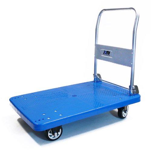 JORESTECH Platform Cart Folding Dolly Foldable Warehouse Moving Push Hand Truck (660 LBS PVC Wheels)