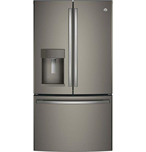 GE Energy Star Slate Grey 27.8 Cubic Foot French-door Refrig