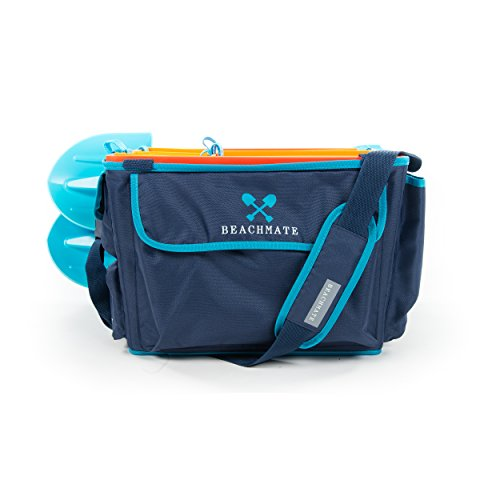 Beachmate All-in-One Large Beach Tote Bag and Toy Organizer with 5 Durable Multi-Purpose Buckets, Soft Insulated Cooler, and 2 Ultra-Strong, Industrial-Strength - Systems Beach