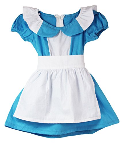 [Wholesale Princess Alice in Wonderland Costume w/ Collar] (Wonderland Outfit)