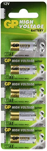 GP High Voltage Alkaline Batteries - 23 AE 12V (pack of - Alkaline Voltage Battery