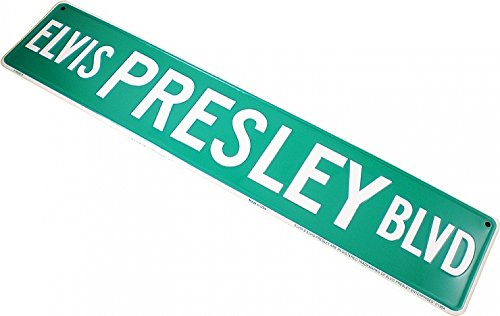 Elvis Presley Boulevard Metal Road Street Sign [24