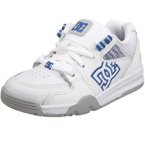 DC Kids Versatile Skate Shoe (Little Kid),White/Royal,1 M US Little Kid