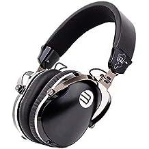 Over Ear Wired Headphones, Professional HiFi Stereo Headpset Built-in Mic, Deep Bass, Foldable/Soft Earmuffs Studio Monitoring, DJ Home Entertainment-Black