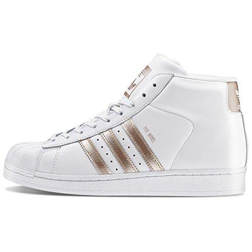 ADIDAS - Scarpe adidas alta Originals PRO MODEL in pelle bianca e bronzo CG3782 - CG3782 - 36-2/3, Bianco e Bronzo