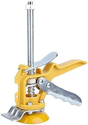 Sistema de nivelaci/ón del localizador de azulejos Juego de herramientas de instalaci/ón de azulejos Herramienta de alicates para pisos Amarillo