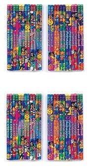 Geddes Incentive Pencils, Various Phrases for Kids, Set of 144 (64244) (Расk оf Тwо)