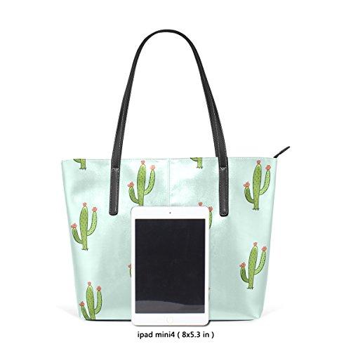 De De De Verde Hombro De La Las Cuero La Bolso Superior De De Cactus Asa Bolsos Tizorax Mujeres Manera Pu Bolsos Totes wxFHAnz5W