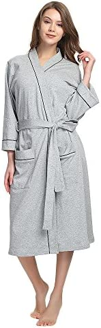 Mymoon Womens Cotton Bathrobe Lightweight product image
