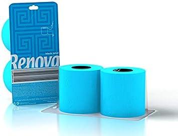 Renova Papel Higiénico Azul - Pack Regalo 2 Rollos: Amazon.es ...