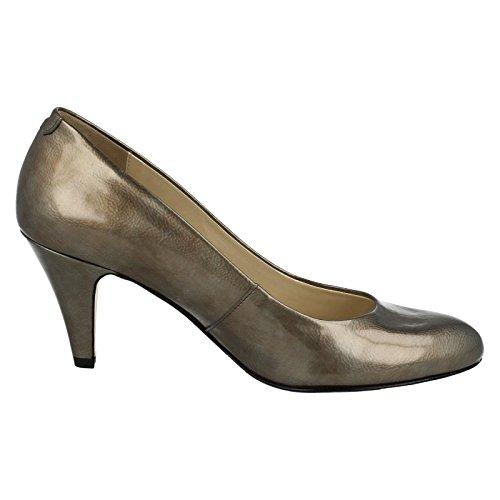 Van Dal Holt - zapatos de tacón de charol mujer Pewter Feature Patent